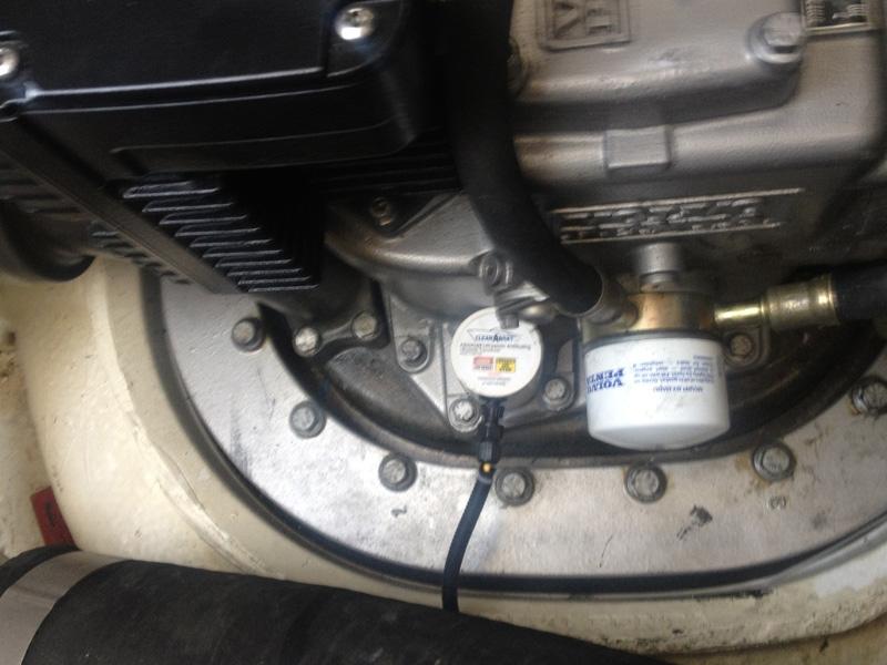 Transducer installation on Volvo Penta IPS Drive in Regal