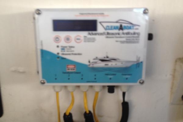 Quad Ultrasonic Antifouling Module installed in Riviera M430